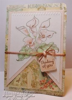 For Timeless Tuesday's Challenge Cindy Haffner created this stunning card using Flourishes Calla Lilies Stamp Set. She colored her images using Flourishes Copic Stamp Set Collections in the colors Spring Greens and Sweet Pea. Be sure to check out her blog for more details.