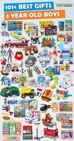 Browse our Gift Guide featuring 150+ Best Toys For 3 Year Olds. Discover educational toys, unique kids gifts, kids games, kids books, and more for your 3 year old boy. Make his Birthday or Christmas extra magical with these delightful picks he'll love! #giftguide #birthdaygifts #christmasgifts #giftideasforkids