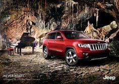 piano, cave, jeep.