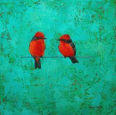 oleo con textura  Monica Goetze Paraguayan artist