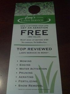 lawn care door hanger lawn care business pinterest lawn care