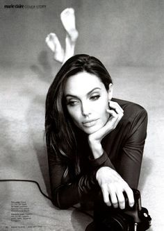 Angelina Jolie in ELIE SAAB Resort 2012 photographed by Alexei Hay for the January issue of Marie Claire US.