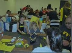 Ector County Library in Odessa, TX celebrates with Batman arts & crafts...