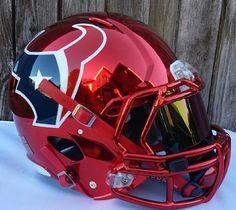 Houston Texans concept helmet: nice red chrome instead of the regular steel blue