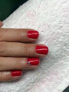 simple red gel lac nail polsih, nice. pretty, girly