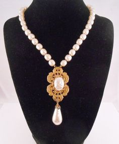 Miriam Haskell Baroque Pearl Choker Necklace by Libbysmomsvintage, $300.00