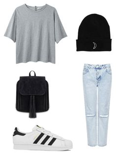 """""""Untitled #8"""" by afnan4 ❤ liked on Polyvore featuring Topshop, adidas and Acne Studios"""