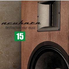 Acuhorn 15 bass Stereo Speakers High End 96dB Ribbon Tweeter & Woofer Neodymium