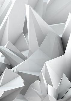 rhubarbes: White Noiz Art Print by ThoughtCloud. (via White Noiz Art Print by ThoughtCloud 3d Texture, White Texture, Texture Design, Architecture Origami, Geometry Triangles, 3d Artwork, 3d Prints, Elements Of Design, Design Graphique