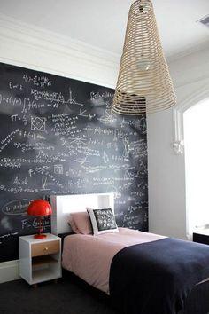 Teenage Girl Room Ideas (20 pics) Interiorforlife.com Blackboard wall from toddler to teenage years.