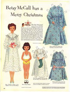Betsy McCall paper dolls, I've printed these before on linen paper and put on adhesive magnet sheets before cutting out. Makes a great gift!