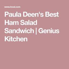 Paula Deen's Best Ham Salad Sandwich | Genius Kitchen