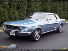 1968 ford mustang coupe | 1968 Ford Mustang Coupe Brittany Blue Metallic / Black Vinyl Photo #2 ...