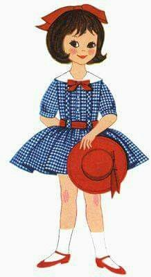 Cute Little Paper Doll!!! Bebe'!!! Betsy McCall from McCall's monthly magazine!!!