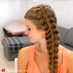 STACKED DUTCH BRAID This stacked Dutch braid is so elegant and simple! Related posts:Easy Pull Through Braid with Hair ScarfCute goddess braids Cute Hairstyles, Braided Hairstyles, Latest Hairstyles, Scene Hair, Hair Dos, Hair Hacks, Her Hair, Hair Inspiration, Curly Hair Styles