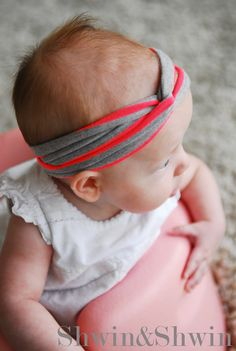Super Easy Peasy Baby Headband--Follow me (Hannah seagraves) for more ideas #baby #headband # ideas #crafts #followme #followback