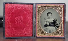 Cased Civil War Tintype Photo of Little Girl Holding by diabolus