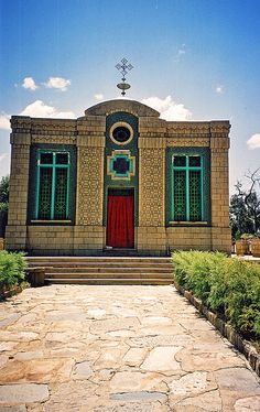 The Holy of Holies where the Arc of the Covenant of the Old Testament is believed kept, Axum, Ethiopa
