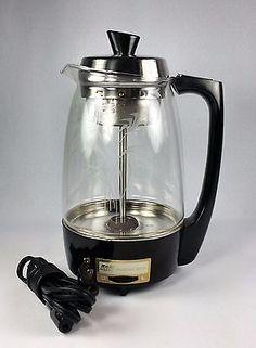 Proctor Silex 11 Cup Glass Coffee Percolator Model 70503 Floral ...