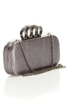 Knuckle Duster #Clutch In Pewter  http://fashioncherry.co/