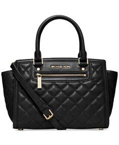 68ab0927ae9 Michael Kors Selma Quilt Medium Top Zip Satchel Tote Bag Claret Red Hi I m  going to need this