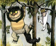 """Where the Wild Things Are"" (1963) by Maurice Sendak.    Max dons his wolf suit in pursuit of some mischief and gets sent to bed without supper. A forest grows in his room, allowing his wild rampage to continue unimpaired."