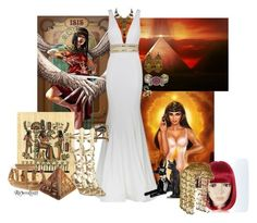 """Daughter of Isis"" by ravenlancaster ❤ liked on Polyvore featuring Episode, Jovani, Askew London, Gucci, Funtasma, Halloween and halloweencostume"