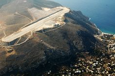 Aerial view of Kalymnos island Airport Airport Design, Civil Aviation, Aerial Photography, International Airport, Aerial View, Seaside, Beautiful Places, Aircraft, Around The Worlds