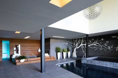 Sands Point Residence by Narofsky Architecture Maybe it's an indoor pool/spa area...