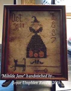 Instant download...Prim Mitilda cross stitch pattern... this prim sampler is so cute... fast and easy to stitch ... I stitched her on prairie cloth and aged her to look old and prim... the pattern comes with color chart, instructions and a color photo... hope you have fun stitching... please follow download instructiions once payment is made...  Blessings Joyce
