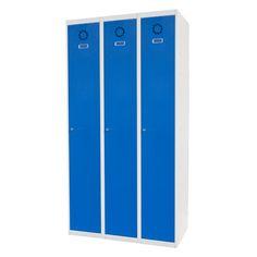 Taquilla metálica modular económica ECOV-30/3, de tres cuerpos y una puerta