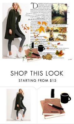 """""""Green Coat"""" by jasmila31 ❤ liked on Polyvore featuring Balmain and Ann Taylor"""