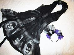 Day of the Dead Costume  dress  womens size 10 unique