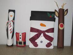Love the wrapping job!!  minimalist penguin, santa, snowman and reindeer!