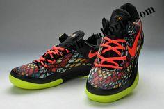 b9f8cbb2b785 Kobe 8 Elite Christmas Black Bright Crimson Fiberglass Vivid Sulphur Kobe  Bryant Shoes
