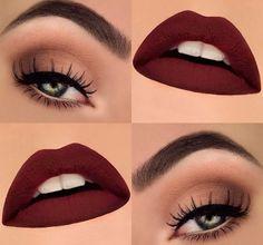 Olhos suave com batom mate VAMP  Simplesmente lindo  ►http://www.importscosmeticos.com