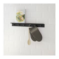 IKEA FALSTERBO wall rail with hooks The hook has a groove to prevent items from sliding off.