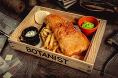 Fish and Chips at The Botanist Manchester on The Monochromes