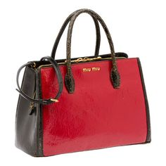 8b084f2c28f3 Craquelé bag from the Miu Miu Spring Summer 2013 collection-black and red  Red