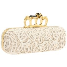 Alexander McQueen Knuckle Box Clutch (5.850 BRL) ❤ liked on Polyvore featuring bags, handbags, clutches, purses, bolsas, accessories, knuckle box clutch, handbags clutches, pink clutches and brass knuckle purse