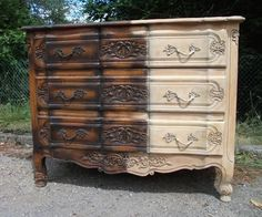 We Strip Furniture prior to refinishing it in a French Shabby Chic Style at www.theoriginalfrenchfurniturecompany