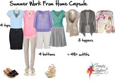 Summer work Capsule Wardrobe | summer work from home capsule by imogenl featuring a pendant necklace