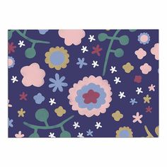 KESS InHouse Alik Arzoumanian 'Night Floral' Blue Nature Dog Place Mat, 13' x 18' *** Review more details here : Dog food container