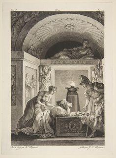 La Matrone d'Ephese, from Contes et nouvelles en vers par Jean de La Fontaine. A Paris, de l'imprimerie de P. Didot, l'an III de la République, 1795  Jean-Louis Delignon  (French).