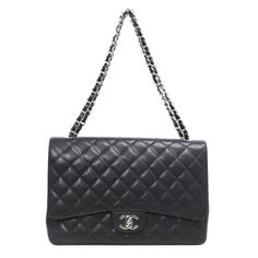 Get one of the hottest styles of the season! The Chanel Leather Classic Maxi Flap Handbag Shoulder Bag is a top 10 member favorite on Tradesy. Save on yours before they're sold out! Classic Handbags, Chanel Classic Flap, Chanel Black, Caviar, Chanel Boy Bag, Leather Shoulder Bag, Purses, Luxury, Style