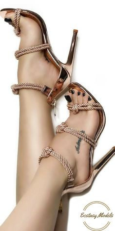 OPEN TOE ROPE SHINY MIRROR PUMP from shoeclub21