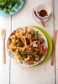 Fried Cauliflower & Potatoes: Sour & Turkish