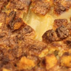 Cinnamon Apple Bread Pudding: Bread pudding made delicious, and super easy with Duncan Hines Comstock® or Wilderness® More Fruit Apple Filling.