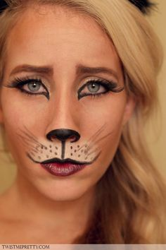 Who is painting their face like a cat this Halloween?