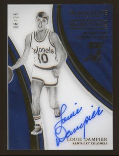 7d8493c60ab 2016-17 Immaculate Milestones Louie Dampier Colonels AUTO 8/25 Basketball  Cards, Portland